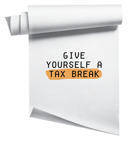 Give yourself a tax break